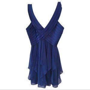 Blue mini cocktail dress